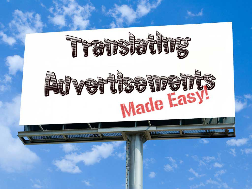 Translation of advertising material